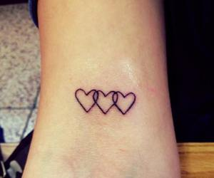 black, tatoo, and hearts image