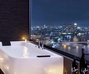luxury, city, and bath image