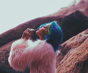 halsey, badlands, and blue image