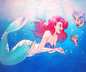 ariel, disney, and nemo image