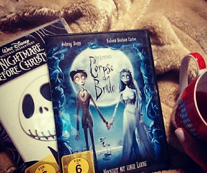 corpse bride, cuddle, and dvd image