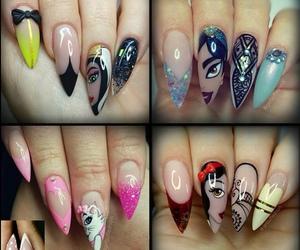 colours, disney, and nail art image