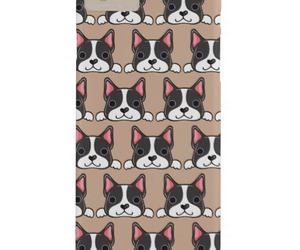 boston terrier, graphic design, and iphone image