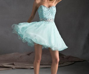 dress, prom dress, and sweetheart image