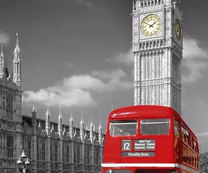 london, red, and Big Ben image