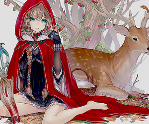 anime, deer, and fairy tales image