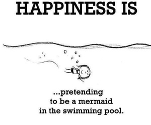 happiness, mermaid, and swimming image
