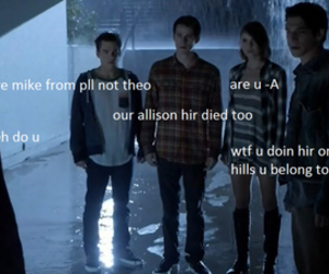teen wolf, funny, and mike image