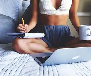 girl, study, and apple image