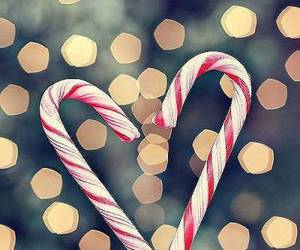 christmas, candy, and heart image