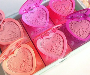 heart, blush, and pink image