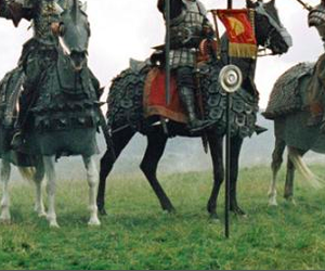 battle, horse, and medieval image