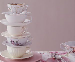 cup, pink, and tea image