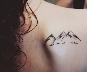 mountain, tattoo, and back image