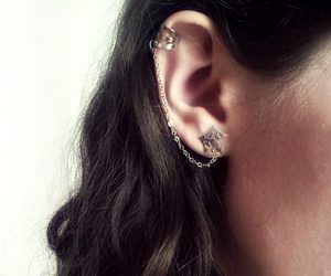 ear, jewerly, and earrings image