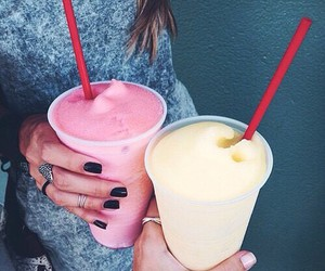 bff, black nails, and delicious image