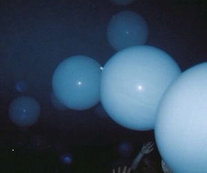 blue, balloons, and grunge image