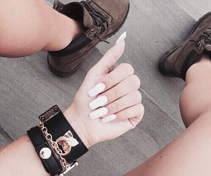 beautiful, bracelets, and nails image