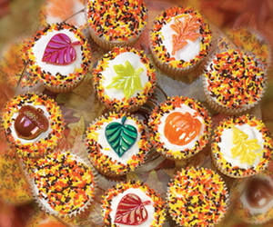 fall, autumn, and cupcakes image