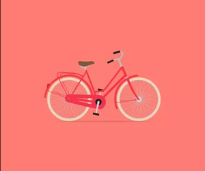 bicycle, pink, and wallpaper image