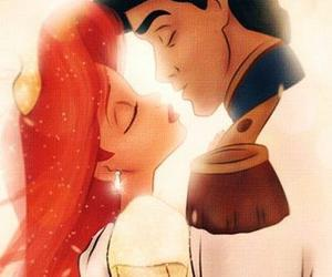 disney, wedding, and kiss image