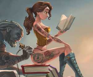 tattoo and beauty and the beast image