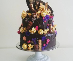 art, chocolate, and cake image