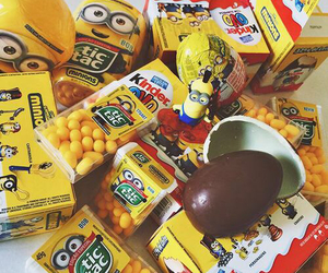 minions, yellow, and food image