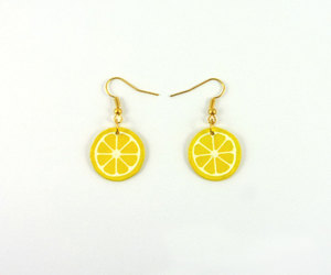 citrus, earrings, and etsy image