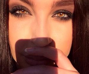 eyes, sun, and girl image