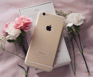 iphone, flowers, and apple image