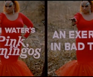 divine, John Waters, and pink flamingos image