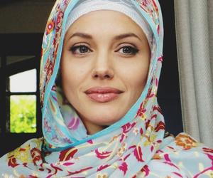 Angelina Jolie and hijab image