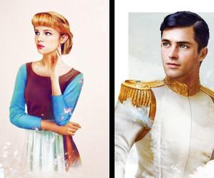 disney, cinderella, and prince image