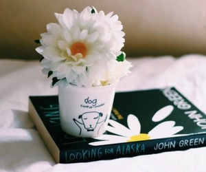 book, flowers, and john green image