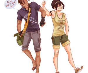 avatar, toph, and couple image
