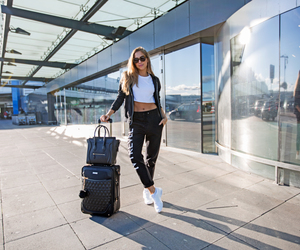 airport, celine, and brunette image