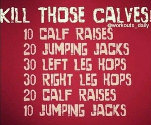 body, calves, and fitness image