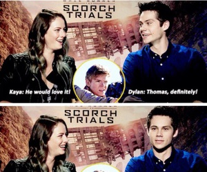 funny, thomas sangster, and dylan o'brien image