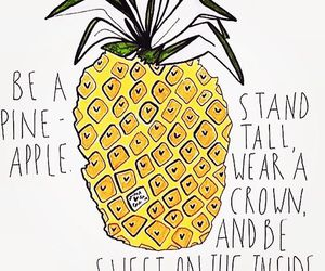 pineapple, quote, and crown image
