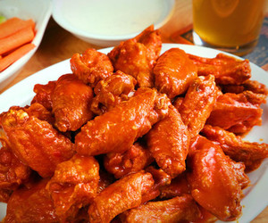 food, Chicken, and wings image