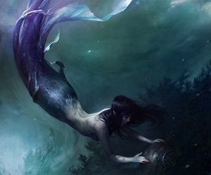 dibujo, mermaid, and draw image