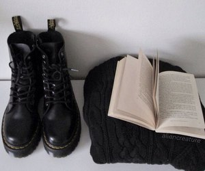 book, grunge, and black image