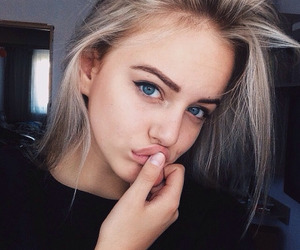 beautiful, blue, and eyebrows image