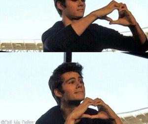 dylan o'brien, teen wolf, and heart image