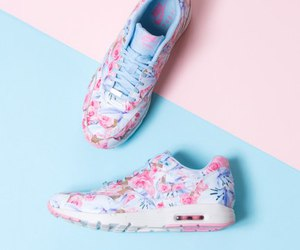 air max, color, and flowers image