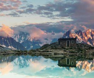 lake, sky, and mountains image