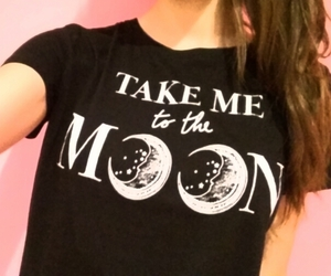 black, fashion, and moon image