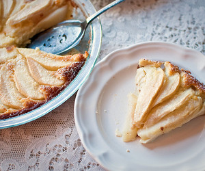 pie, food, and apple image