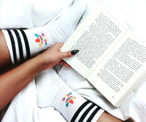 book, adidas, and nails image